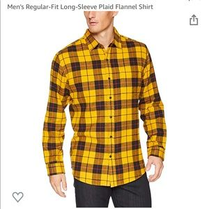 Men's Regular Fit Long Sleeve Flannel Shirt
